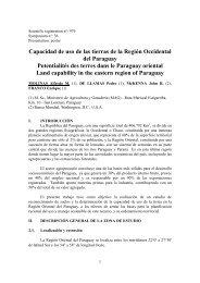 Capacidad de uso de las tierras de la Región Occidental del ...