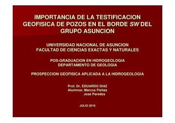 Importancia de la Testificación Geofísica de Pozos en el Borde SW ...