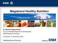 Megatrend Healthy Nutrition - ZIEL - TUM - Akademie