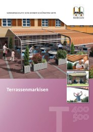 VARISOL-Terrassenmarkisen in der Ãœbersicht