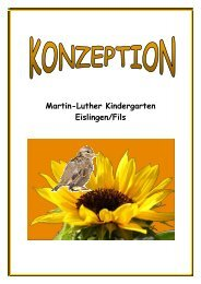 Konzeption Martin-Luther Kindergarten Eislingen/Fils