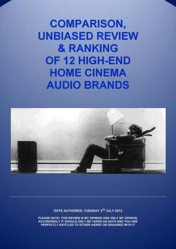 COMPARISON, UNBIASED REVIEW ... - Gecko Home Cinema