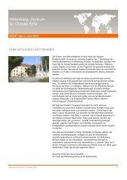 WZGE Newsletter Juni 2010 - Wittenberg-Zentrum für Globale Ethik