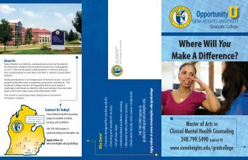 View Brochure - Siena Heights University