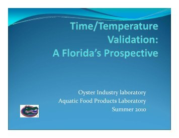 Oyster Industry laboratory Aquatic Food Products Laboratory ...