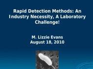 Rapid Detection Methods - Interstate Shellfish Sanitation Conference