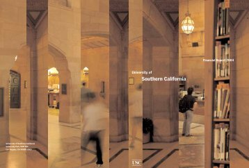 2004 Annual Report - About USC - University of Southern California