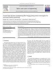 A novel time-division multiplexing fiber Bragg grating sensor ...