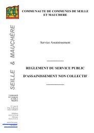 Règlement SPANC - Communauté de Communes de Seille et ...