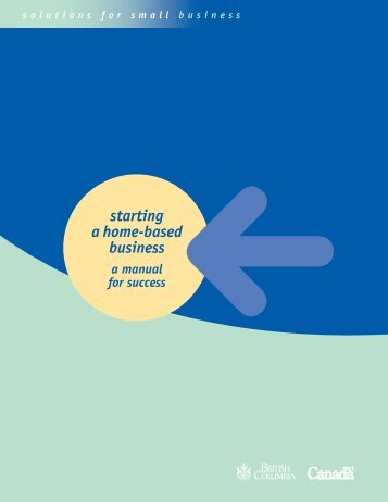 Starting a Home-Based Business - Small Business BC