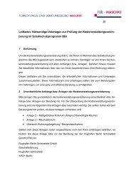 Anmerkungen zum Entwurf der ersten Verordnung zur Änderung der ...