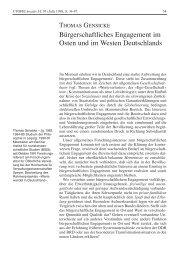 Bürgerschaftliches Engagement im Osten und im Westen ...