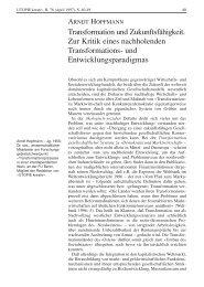 Transformation und Zukunftsfähigkeit. Zur Kritik eines nachholenden ...