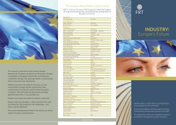 November 2011 - European Round Table of Industrialists