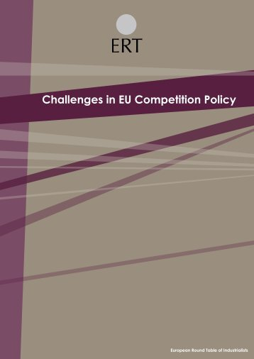 Challenges in EU Competition Policy - European Round Table of ...