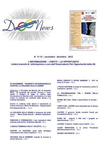 N 11-12 – novembre - dicembre 2012 L'INFORMAZIONE ... - UIL SGK