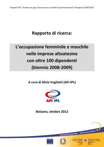 Primo rapporto di ricerca (2008-2009) - AFI-IPL