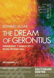 7 March 2012: The Dream of Gerontius (Elgar)