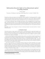 Information-theoretic limits of two-dimensional ... - STAR | UCSD