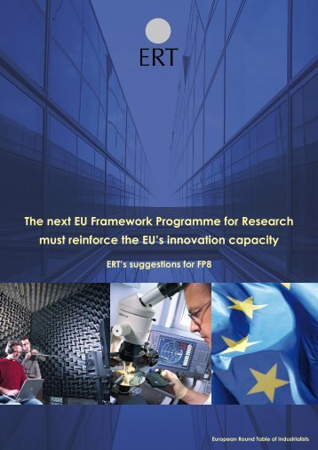ERT's suggestions for FP8 - European Round Table of Industrialists