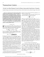 On the low-rate shannon limit for binary intersymbol ... - STAR | UCSD