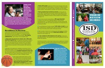 ISD 2012 update.pdf - Iowa School for the Deaf