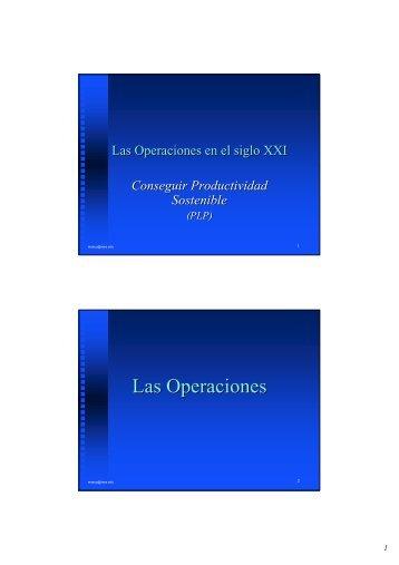 Las Operaciones