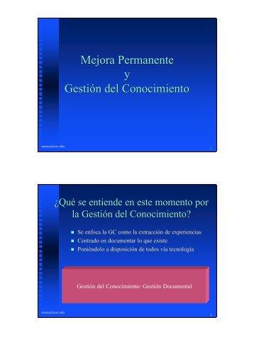 V2-Mejora permanente y Gestion del conociminto Pade 02