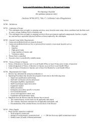 Organized Camp Inspection Checklist - Calaveras County