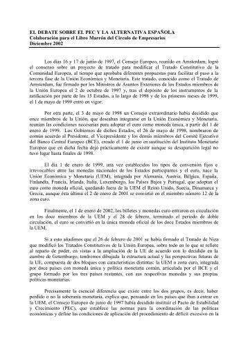 EL DEBATE SOBRE EL PEC Y LA ALTERNATIVA ESPAÑOLA ...