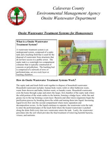 Onsite Wastewater Treatment Systems for ... - Calaveras County