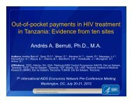 Evidence from ten sites - International AIDS Economic Network