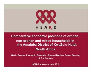 Comparative economic positions of orphan, non-orphan and mixed ...