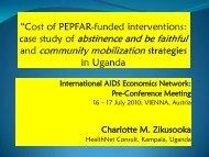 cost of CM - International AIDS Economic Network