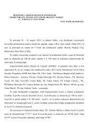 În perioada 01 - 03 august 2012, în judeţul Zalău, s-au desfăşurat ...