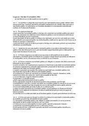 Legea nr. 544 din 12 octombrie 2001 privind liberul acces la ...