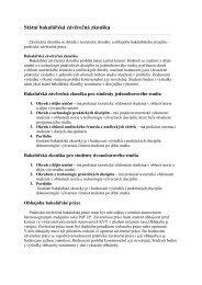 informace o bakalářské práci a bakalářské státní zkoušce