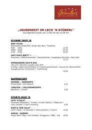 """""""JAUSENZEIT IM LECH´N STÜBERL"""""""