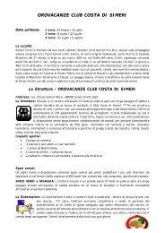 2 OROVACANZE CLUB COSTA DI SIMERI - Avec