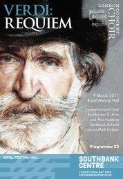 9 March 2011: Requiem (Verdi)