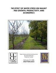 The Effect of Water Stress on Walnut Tree Growth ... - Tehama County