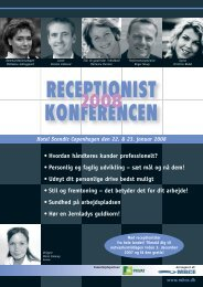 RECEPTIONIST KONFERENCEN - MBCE