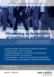 Tiltrækning og fastholdelse af kvalificeret arbejdskraft - MBCE