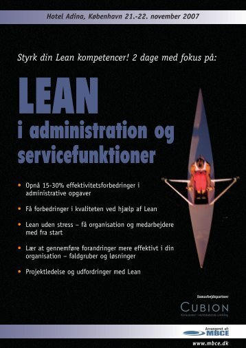 i administration og servicefunktioner - MBCE
