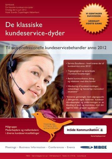 De klassiske kundeservice-dyder - MBCE