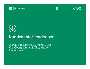 Kundecenter-tendenser - MBCE
