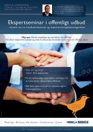 Ekspertseminar i offentligt udbud - MBCE