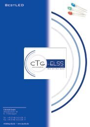 Produkte mit High Potential LED - CTG ELSS GmbH