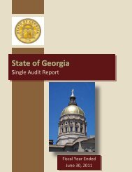 State of Georgia Comprehensive Annual Report - State Accounting ...