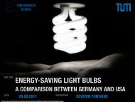 ENERGY-SAVING LIGHT BULBS - TUM